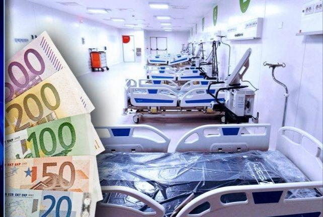 Ospedali, business Covid: 2.000 euro al giorno a paziente