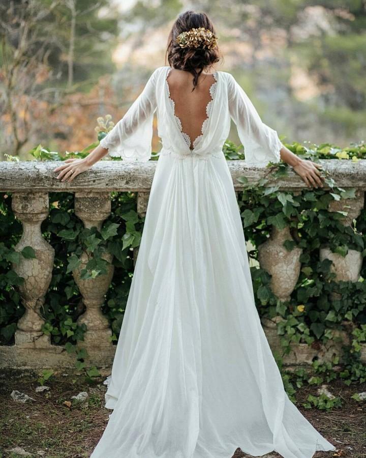Vestidos de noivas simples - Casamento no Campo