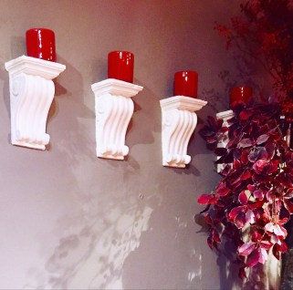Candles on Wall