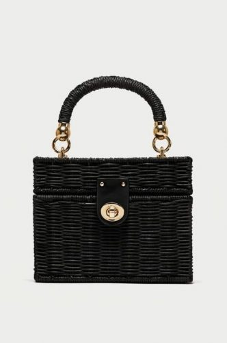 Zara Minaudiere Straw Bag with Braided Handle