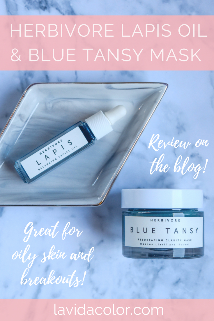 Herbivore Blue Tansy Mask and Lapis Oil are amazing and natural acne and oily skin treatments! Read my review to learn why I love this stuff and have repurchased it again!