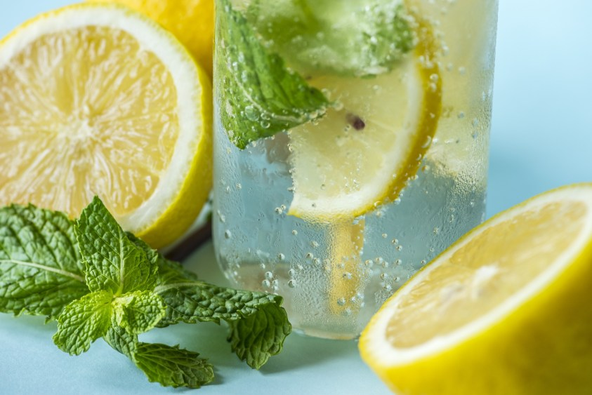 Mint and lemon water- healthy infused fruit water recipes- lavidacolor.com