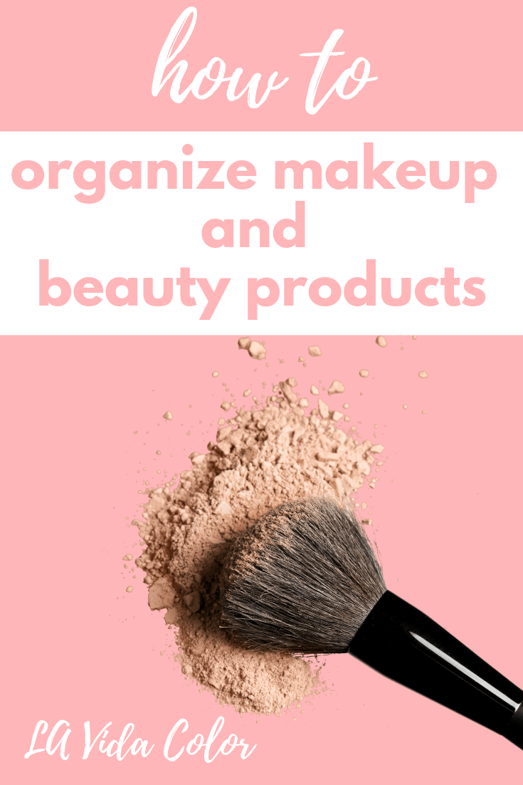 This guide will help you organize makeup and beauty products with ease! Have your nail polishes, lipsticks, brushes, and palettes organized like a pro! 