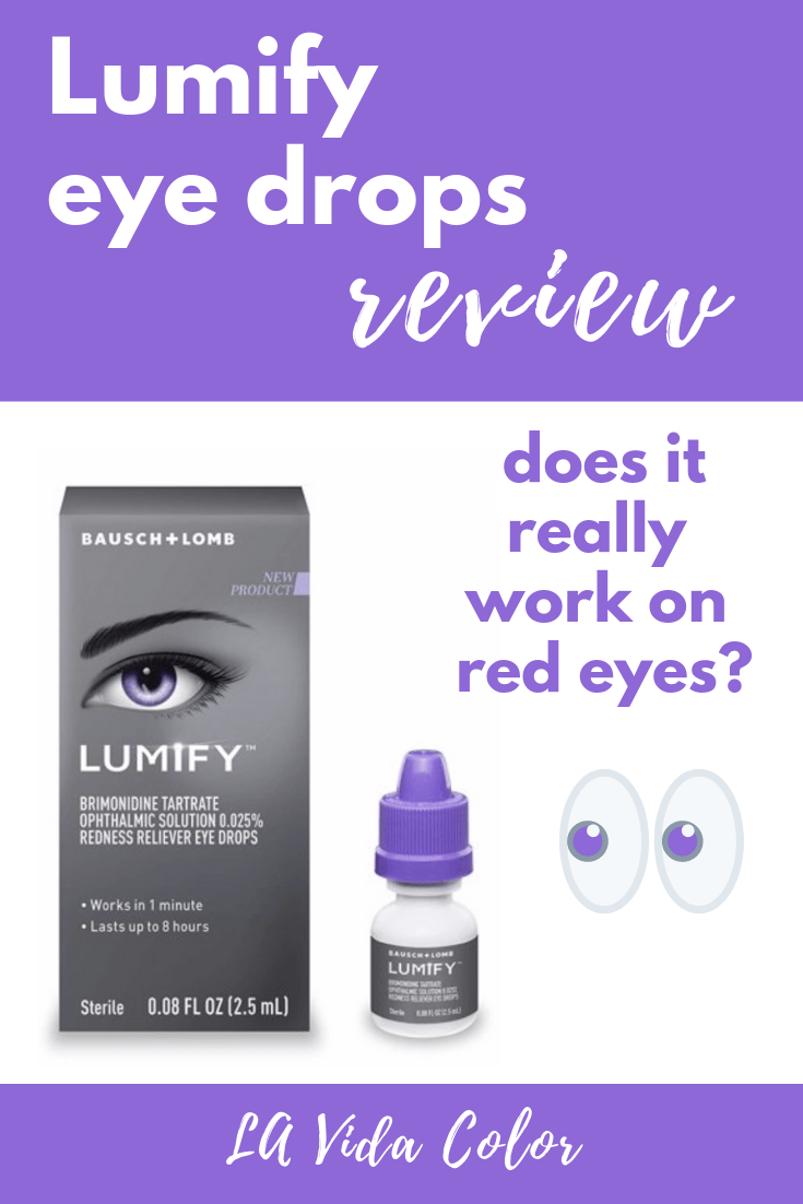 Lumify Review for red eyes- before and after