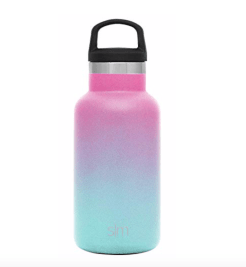 Simple modern ombre insulated water bottles