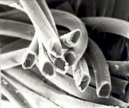 A weird close up of viscose cellulose!
