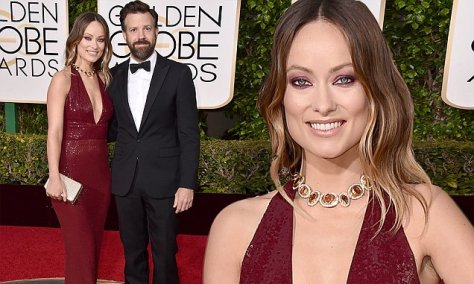 Olivia Wilde, left, and Jason Sudeikis arrive at the 73rd annual Golden Globe Awards on Sunday, Jan. 10, 2016, at the Beverly Hilton Hotel in Beverly Hills, Calif. (Photo by Jordan Strauss/Invision/AP)