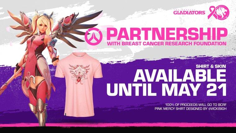 Camiseta Pink Mercy - la vida es un videojuego