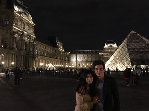 The Lourve with my Parisian tour guide