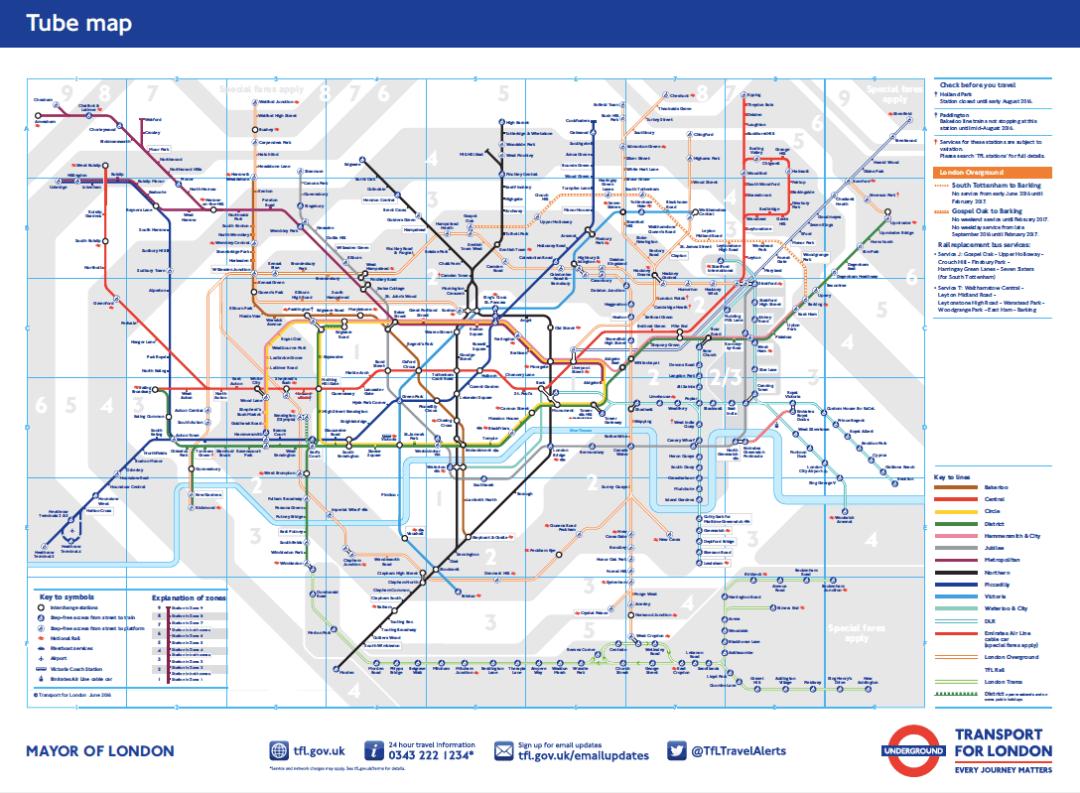 plan du metro Londres