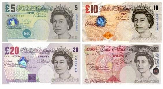 Billet monnaie Londres