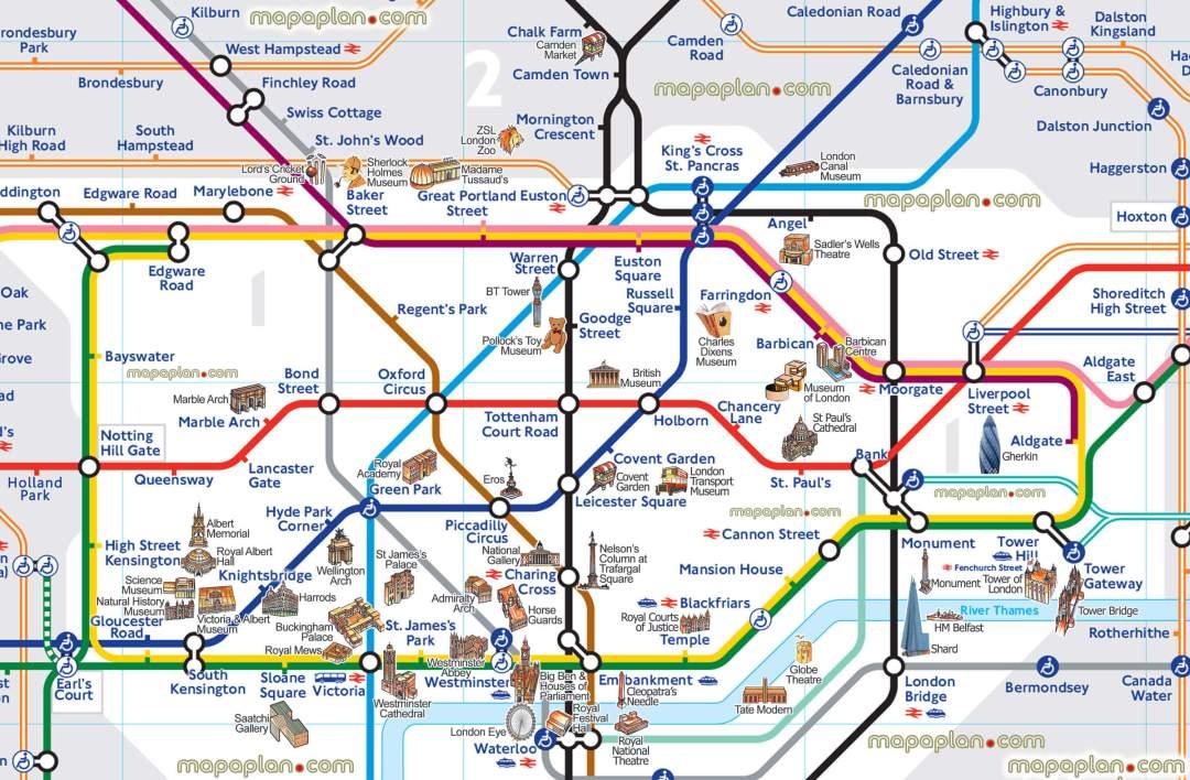 Plan monument londres metro