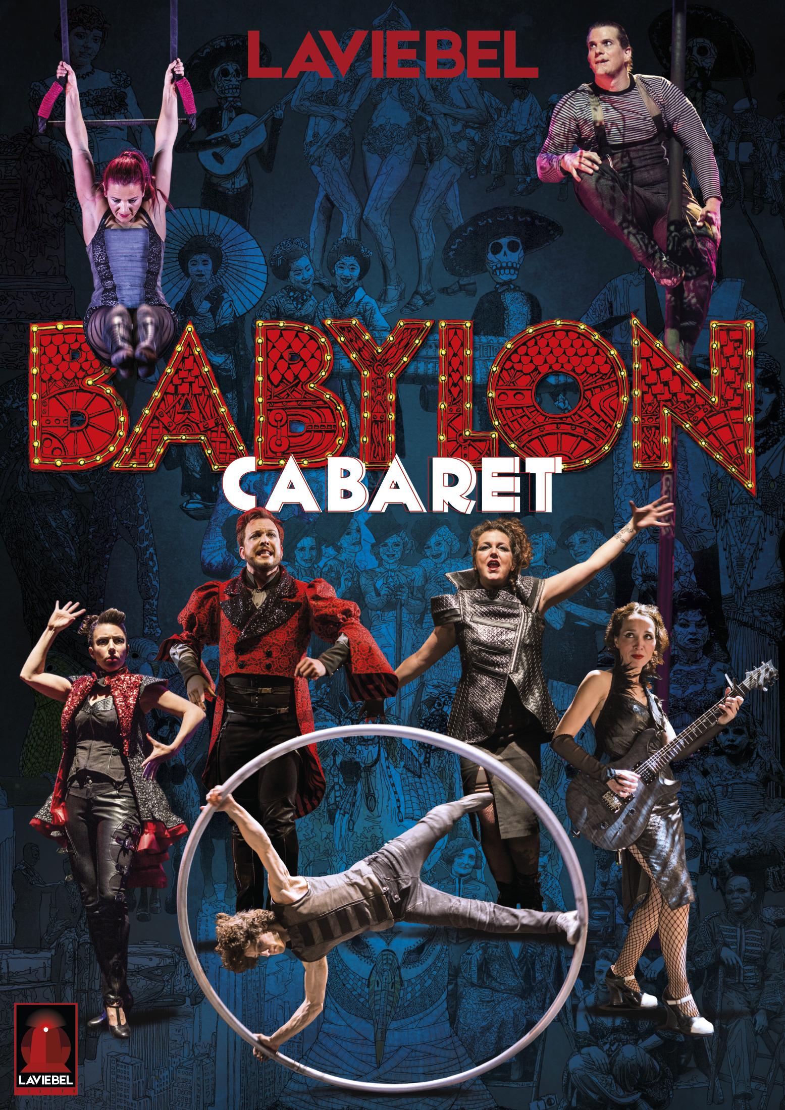 Cartel Cabaret babylon de Laviebel
