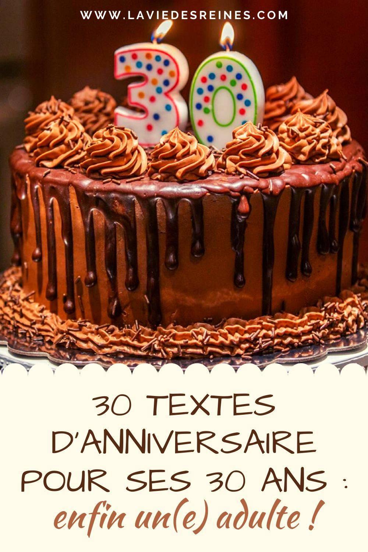 Citation Anniversaire 30 Ans : citation, anniversaire, Textes, D'anniversaire, Enfin, Un(e), Adulte