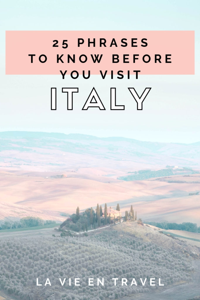 graphic about Italian Phrases for Travel Printable known as 25 Simple Italian Words and phrases Yourself Ought to Comprehend Prior to Oneself Take a look at - La