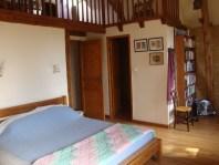 The main bedroom, with door to ensuite.