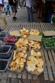 Petites barquettes at Sarlat markets. Many of the stall holders only have a few items from their garden, but all grown and sold with love.