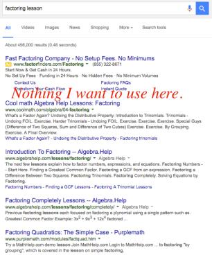 Regular Google blah