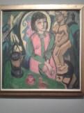 Femme assise à la sculpture en bois d'Ernst Ludwig Kirchner