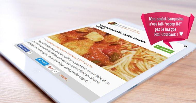 Ma recette de poulet basquaise a été «scoop-it» par le basque Phil Cotebask !