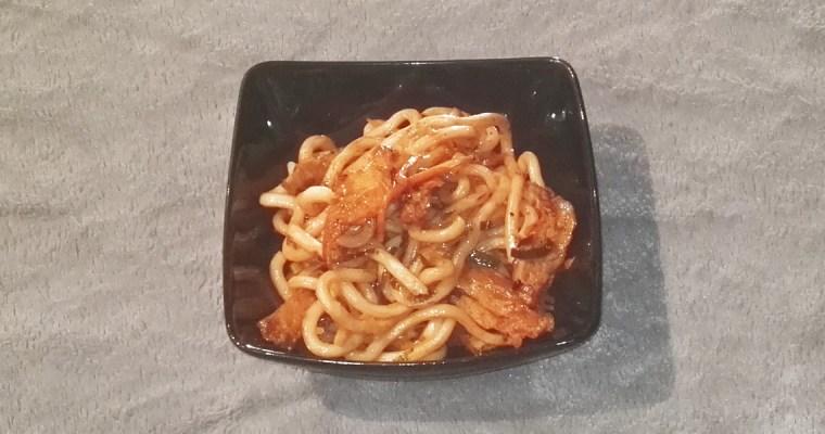 Yaki udon : Nouilles udon sautées aux poulets