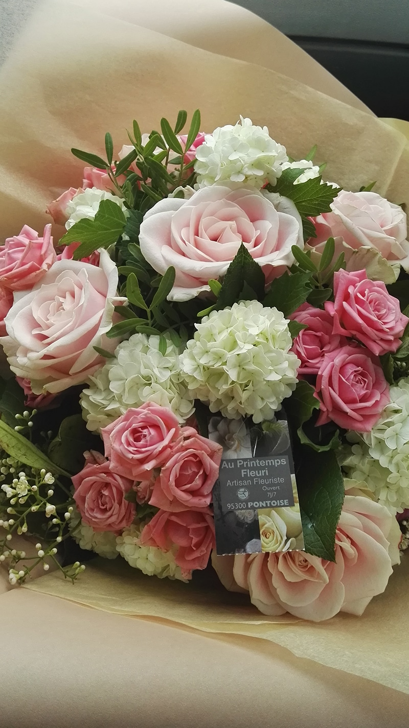 bouquet camaïeu de roses - au printemps fleuri
