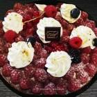la tarte sablée aux framboises – Boulangerie Les Délices de la gare
