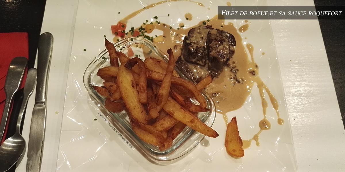 J'ai testé pour vous : le filet de bœuf sauce roquefort – Restaurant Le 8
