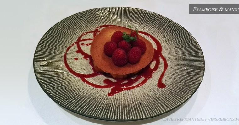 J'ai testé pour vous : les framboises et mangue – le restaurant La Bourgogne