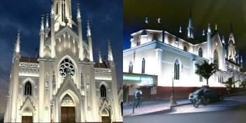 Así quedaría la fachada de la Basílica luego de entregar el alumbrado. Archivo particular.