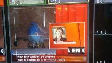 Estando en Nueva York realizó un directo para El Tiempo Televisión. Archivo particular.