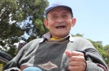 Laureano Puchana fue el primer adulto mayor que la Fundación San Carlos recibió en 2005. Archivo particular.