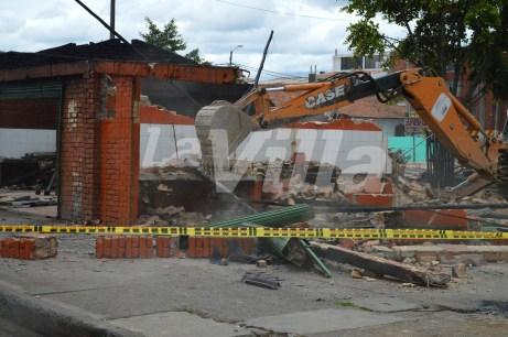 A pesar de las protestas, las antiguas casetas fueron demolidas. La Villa.