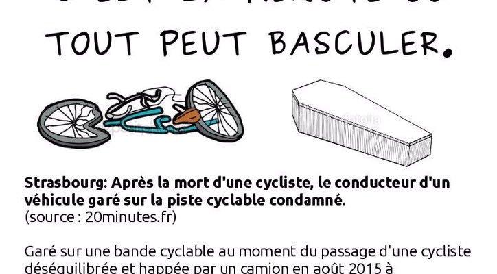 Communiqué de presse : Une chaîne humaine pour protéger les bandes cyclables