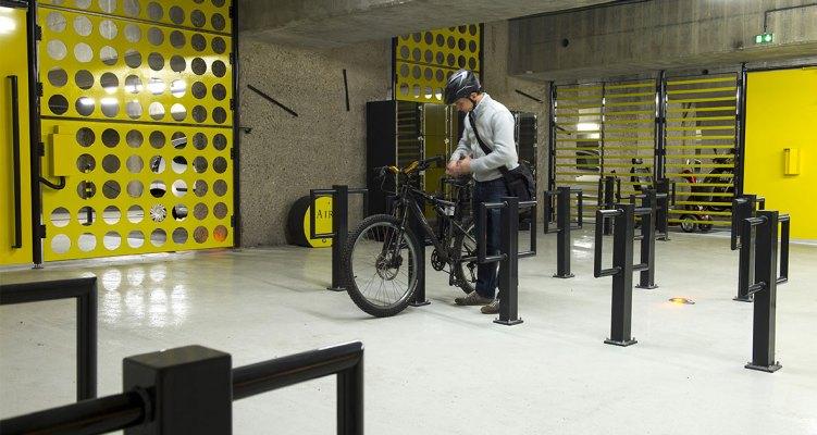 Carte du stationnement vélo sécurisé