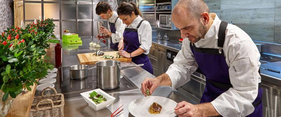 La cocina en vivo del Taller de La Viña del Ensanche
