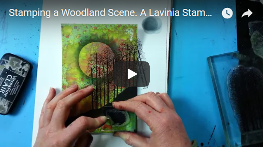 Stamping a Woodland Scene