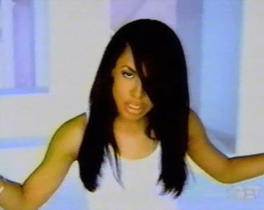 the Aaliyah side-swept hair