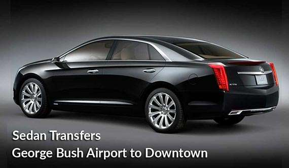 sedan transfer to george bush airport Houston