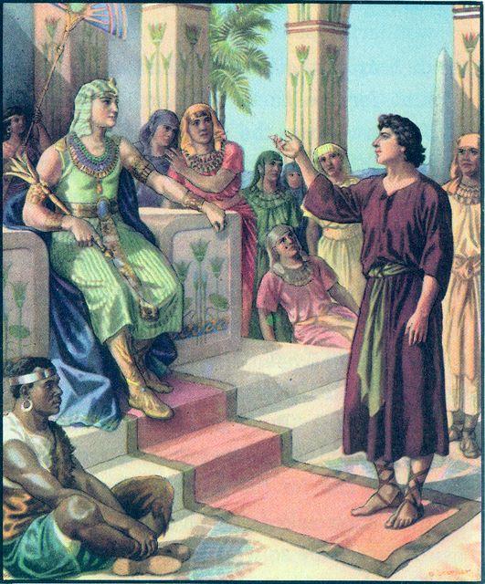 Joseph interprets Pharaoh's dreams