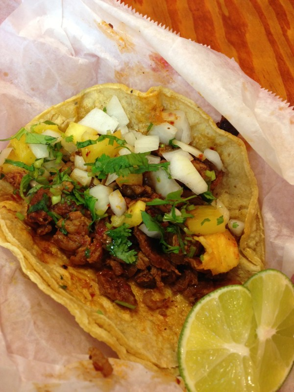 Taco al pastor at Zacataco in Berwyn.