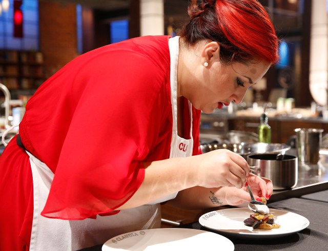 "MASTERCHEF: Contestant Claudia in the all-new ""Team Gordon Ramsay/The Finale"" two-hour season finale episode of MASTERCHEF airing Wednesday, Sept. 16 (8:00-10:00 PM ET/PT) on FOX.  CR: Greg Gayne / FOX. © 2015 FOX Broadcasting."