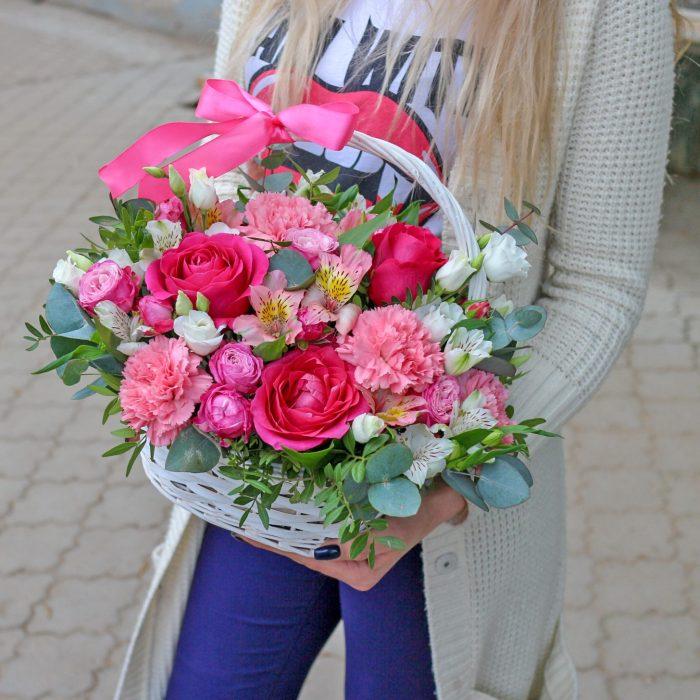 Цветы в корзине Уфа