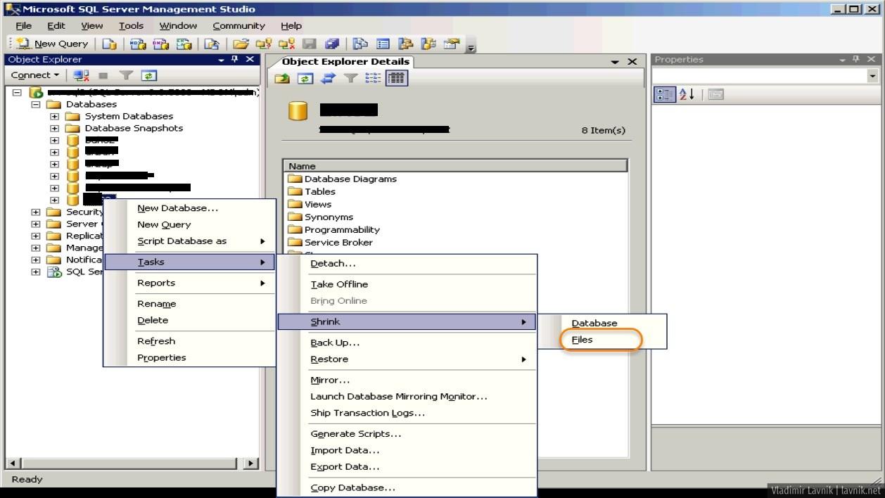 Инструкция как удалить или сжать файл лога