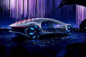 Mercedes-Benz показал сюрреалистические кадры безумного прототипа электромобиля Vision AVTR
