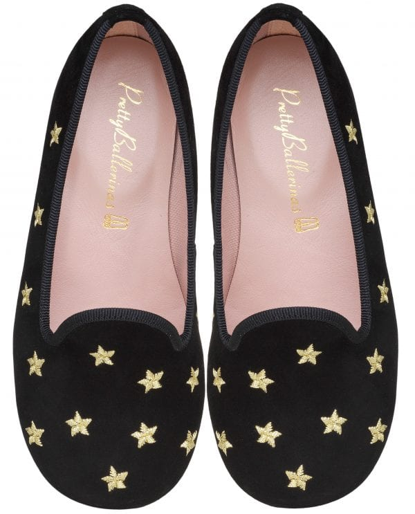 Pretty Ballerinas collezione autunno inverno 2018 2019_Hannah gold star loafer - pair