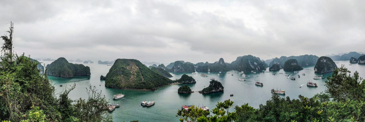 Halong Bay vista da Ti Top Island