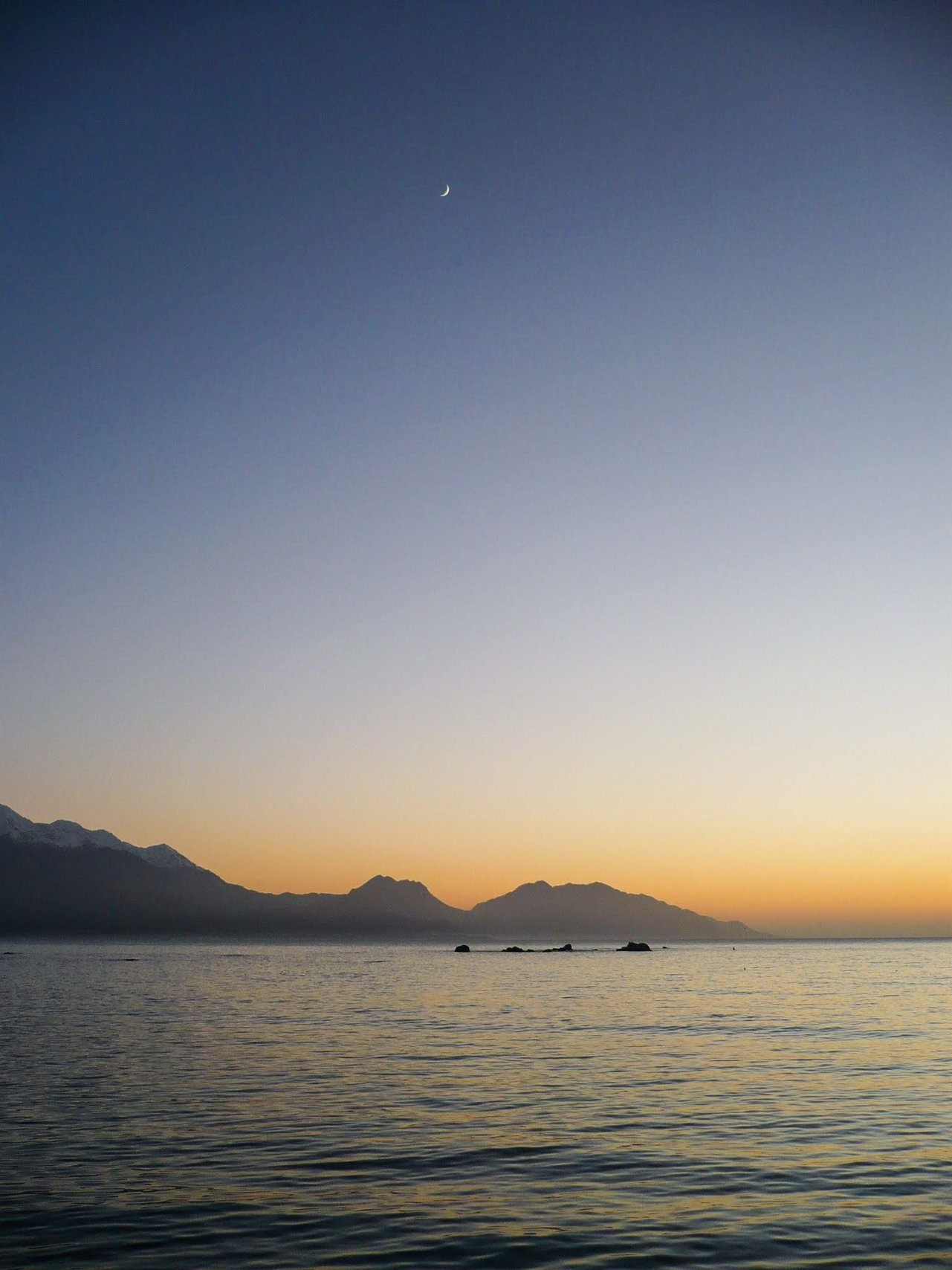 Luna a Kaikoura, Nuova Zelanda