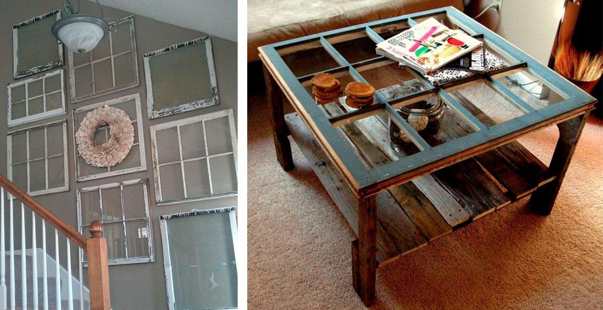25 geniales ideas para reciclar las ventanas viejas  La