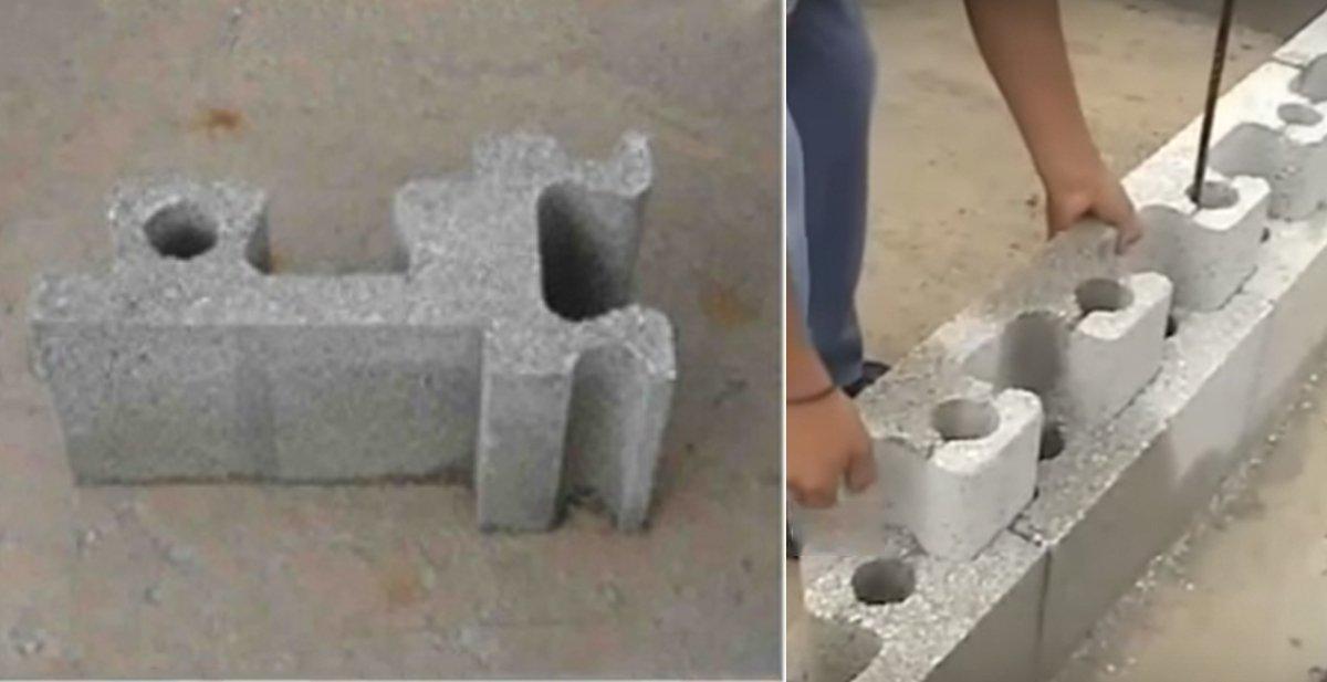 Estos ladrillos permiten construir una casa en pocas horas
